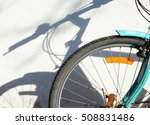 Bicycle Wheel With A Shadow O...
