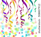 confetti and streamers | Shutterstock .eps vector #508837912
