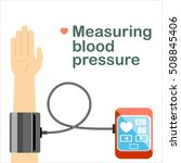 high blood pressure concept... | Shutterstock .eps vector #508845406