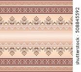 vector line art seamless border ...   Shutterstock .eps vector #508845592