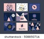 set of artistic creative merry... | Shutterstock .eps vector #508850716
