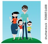 a happy family | Shutterstock .eps vector #508851688