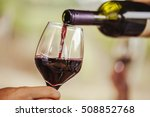 red wine being poured in the... | Shutterstock . vector #508852768