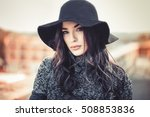 winter portrait of fashionable... | Shutterstock . vector #508853836