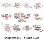 christmas typography collection.... | Shutterstock .eps vector #508856626