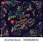 vector set of floral... | Shutterstock .eps vector #508868842