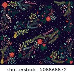 vector set of floral... | Shutterstock .eps vector #508868872