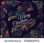 vector set of floral... | Shutterstock .eps vector #508868992