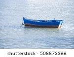 Small Boat At Sea  Old Boat...