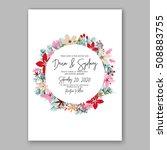 wedding invitation printable... | Shutterstock .eps vector #508883755