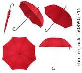 Red Blank Classic Round Rain...