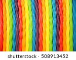 background of rainbow twisted...   Shutterstock . vector #508913452