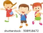 children go to school with a... | Shutterstock . vector #508918672