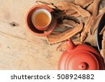 ganoderma lucidum hot tea | Shutterstock . vector #508924882