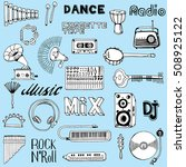 collection of music instruments ...   Shutterstock .eps vector #508925122