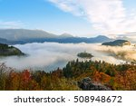 sunrise at lake bled from... | Shutterstock . vector #508948672
