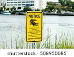 Alligator Warning Sign Notice...