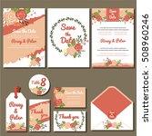 vector set of invitation cards | Shutterstock .eps vector #508960246