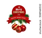 "christmas balls and ""merry...   Shutterstock .eps vector #508968532"