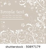 pastel floral card | Shutterstock .eps vector #50897179