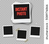 illustration of instant photo.... | Shutterstock . vector #508976866