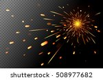 sparks effect on transparent... | Shutterstock .eps vector #508977682