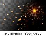 sparks effect on transparent... | Shutterstock .eps vector #508977682