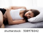 young beautiful caucasian woman ... | Shutterstock . vector #508978342