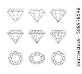 set of isolated gemstones.... | Shutterstock . vector #508978546