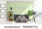 modern bright interior . 3d... | Shutterstock . vector #508980712
