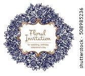 romantic invitation. wedding ... | Shutterstock .eps vector #508985236