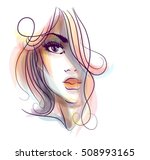 vector  stylish  original hand... | Shutterstock .eps vector #508993165