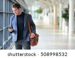 business man using mobile phone ... | Shutterstock . vector #508998532
