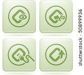 cobalt square 2d icons set ... | Shutterstock .eps vector #50899936