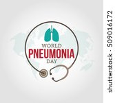 world pneumonia day vector... | Shutterstock .eps vector #509016172