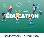 back to school for education... | Shutterstock .eps vector #509017552