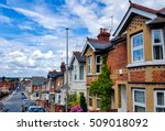 row of typical english terraced ... | Shutterstock . vector #509018092