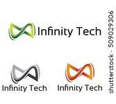 abstract 3d infinity flow... | Shutterstock .eps vector #509029306