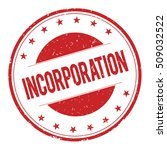 incorporation stamp sign text...