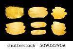 set of shining brush strokes... | Shutterstock . vector #509032906