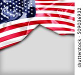 usa country flag on white... | Shutterstock . vector #509036932