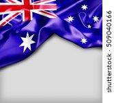 australia country flag on white ... | Shutterstock . vector #509040166