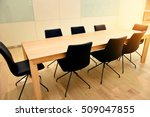 meeting room with flare light | Shutterstock . vector #509047855