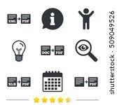 export file icons. convert doc... | Shutterstock .eps vector #509049526