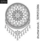 flower mandala. vintage... | Shutterstock .eps vector #509051086