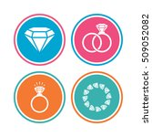 rings icons. jewelry with shine ... | Shutterstock .eps vector #509052082