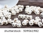 word blog formed by wood... | Shutterstock . vector #509061982