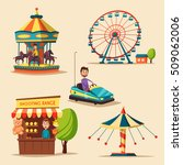 amusement park theme. cartoon... | Shutterstock .eps vector #509062006