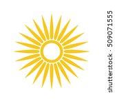 sun vector icon. star... | Shutterstock .eps vector #509071555