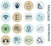 set of 16 universal editable... | Shutterstock .eps vector #509073466